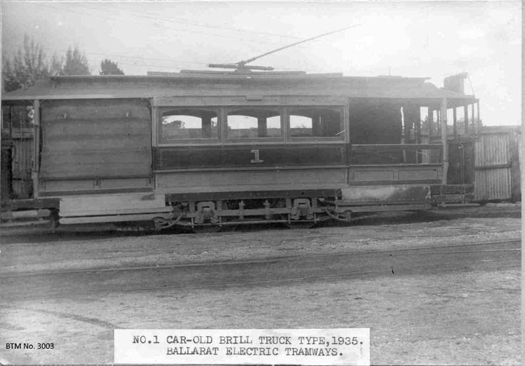 The No. 1 electric tram, long gone.
