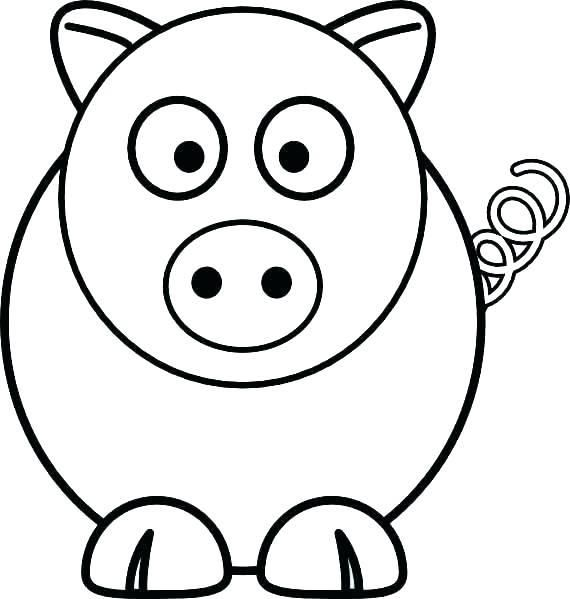 Simple Coloring Pages For 2 Year Old Kids Animal Coloring Pages Farm Animal Coloring Pages Cartoon Drawings Of Animals