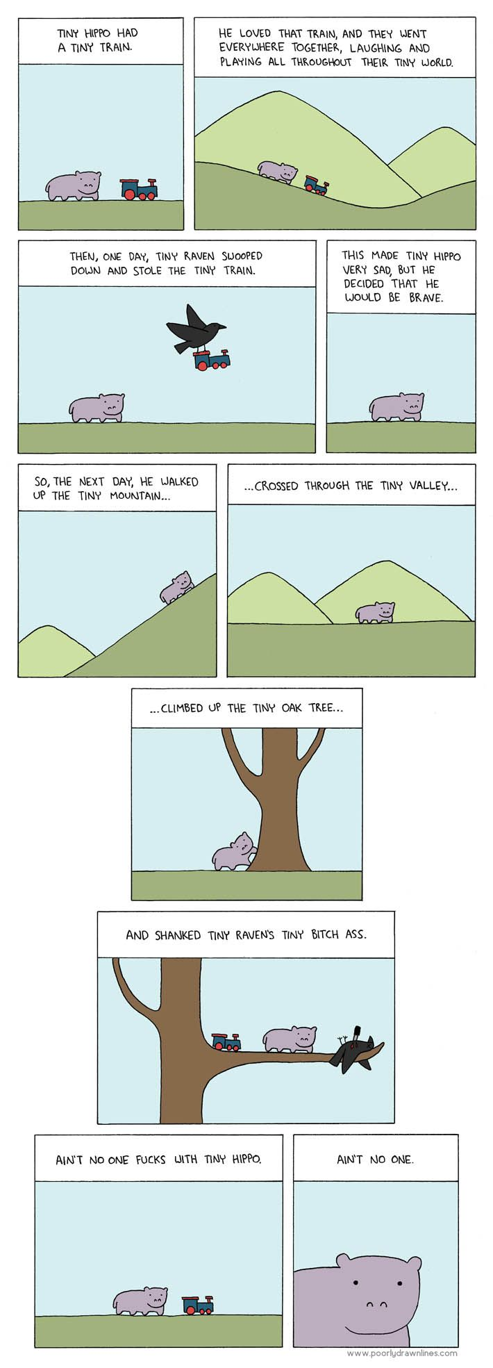 Poorly Drawn Lines – Tiny Hippo and the Tiny Train