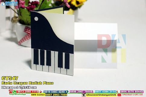 Kartu Ucapan Hadiah Piano Hub: 0895-2604-5767 (Telp/WA)Kartu ucapan hadiah piano, kartu ucapan unik, kartu ucapan modern, katu ucapan murah, kartu ucapan lucu, kartu ucapan karakter, kartu ucapan kombinasi warna, kartu ucapan keren #kartuucapanlucu #kartuucapankeren #katuucapanmurah #Kartuucapanhadiahpiano #kartuucapanmodern #kartuucapankombinasiwarna #kartuucapankarakter #souvenir #souvenirPernikahan