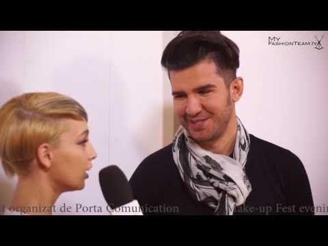 ▶ Interviu Sorin Stratulat @ Make-up Fest 2013 #beautydistrict #hairstylist