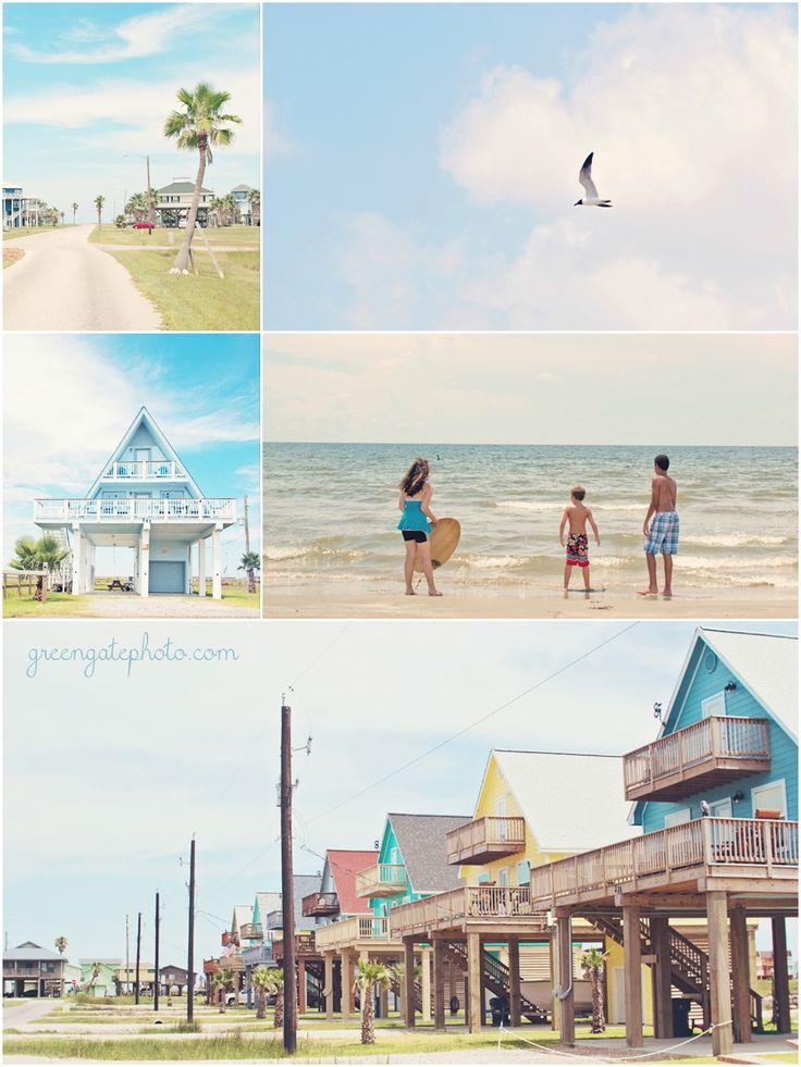 Galveston Island and Surfside, Texas. Beachy summer pastels. Love love love.