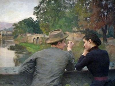 Emile Friant, Les Amoureux, huile sur toile, 1888, Musée des beaux-arts de Nancy