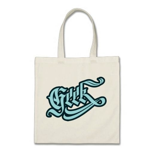Geek Tote Bag #geek #lettering #LetterHype