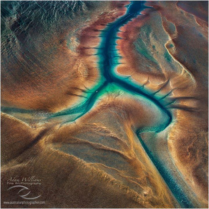 The Stunningly beautiful Mongomery Reef 40km of the West Australian Kimberley Coast.  Adam Williams Photography