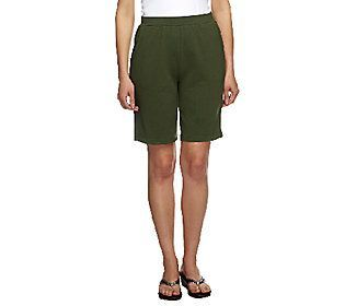 Denim & Co. Active French Terry Pull-on Shorts with Pockets