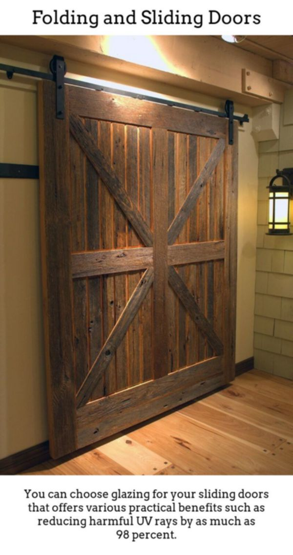 Sliding Doors Produce Stylish Radiant Spaces Via Thermally Insulated Sliding And Foldable Doorways Great For Barn Door Designs Rustic Barn Door Door Design
