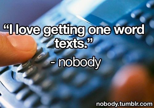 One word texts from guys