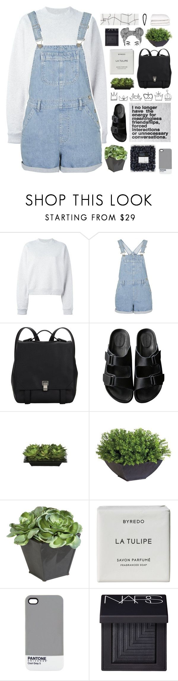 """""""ellie // tag"""" by she-never-falls-in-love ❤ liked on Polyvore featuring Acne Studios, Topshop, Proenza Schouler, American Rag Cie, Lux-Art Silks, Ethan Allen, Byredo, Pantone, NARS Cosmetics and Selfridges"""