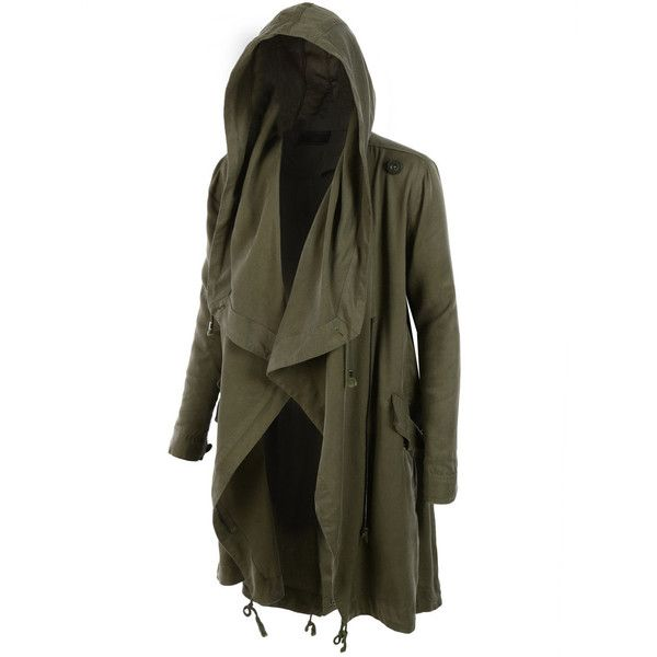 LE3NO Womens Lightweight Oversized Waterfall Military Parka Jacket ...