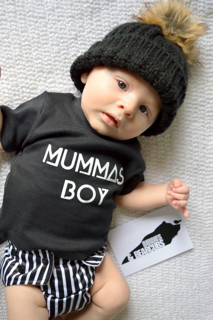 Image of Mummas Boy Tee White/Black