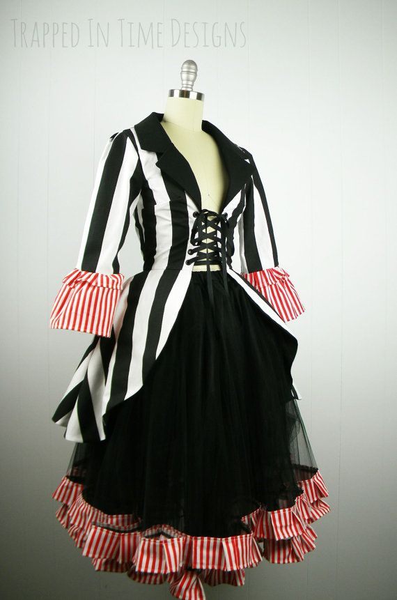 Ringmaster Costume Striped Ringleader by TrappedInTimeDesigns (Erin's Teacher costume)