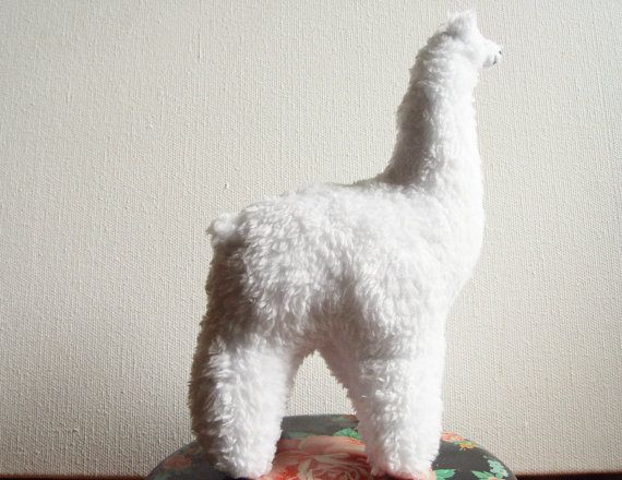 Soft toy white Llama plush toy Llama alpaca by NataliBright