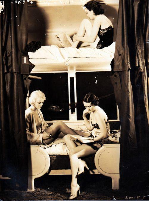showgirls on a train, 1930