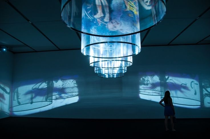 """Installation view of Nalini Malani """"In Search of Vanished Blood"""""""