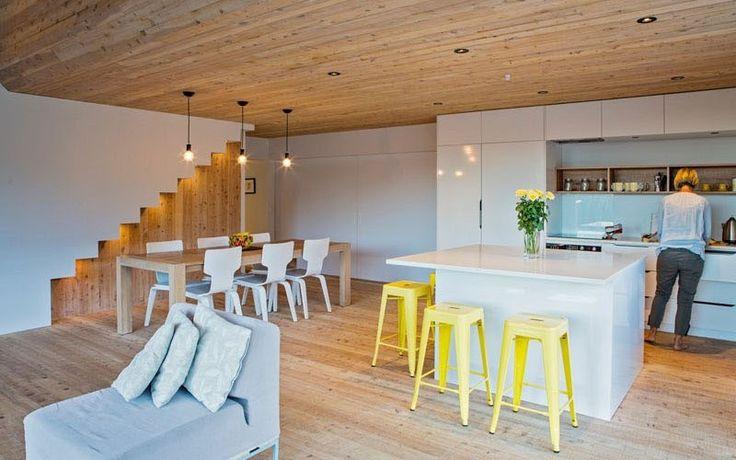 Современный дизайн интерьера небольшого домика