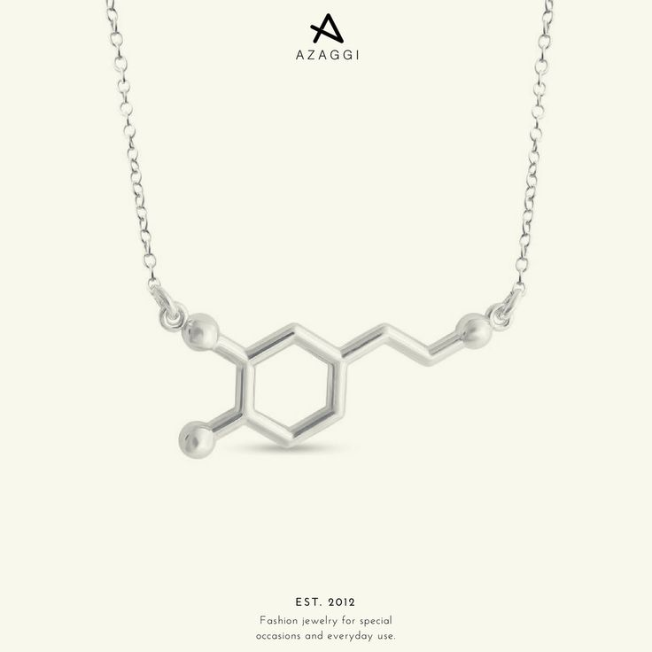 This one is the molecule of dopamine - the hormone of pleasure. What is better than some pure pleasure on a Sunday morning?! III #Azaggi #pleasure #dopamine #molecule #necklace #fashion #accessory #jewelry #bijoux #bijouxlovers #premium #accessories #moda #instafashion #instastyle #fashionaddict #fashionable #fashionlover #glam #style