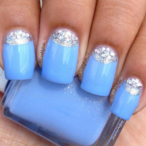 Cinderella Inspired Nail Art: Nail Art Tutorial Cinderella Nails Disney Princess Nail Design