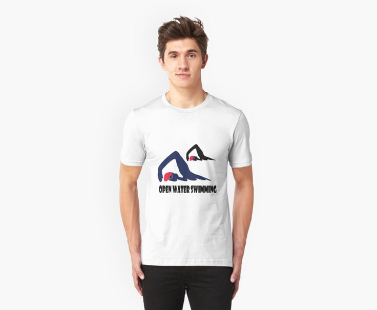 """Open Water Swimming by LyricalSixties.  The slogan """"Open Water Swimming"""" below a graphic image of a swimmer in shades of blue, red and black."""
