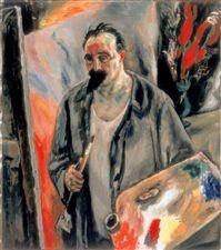 Schilderen is topsport! Jan Sluijters zelfportret 1924 @Stedelijk Museum Amsterdam #collectievissen
