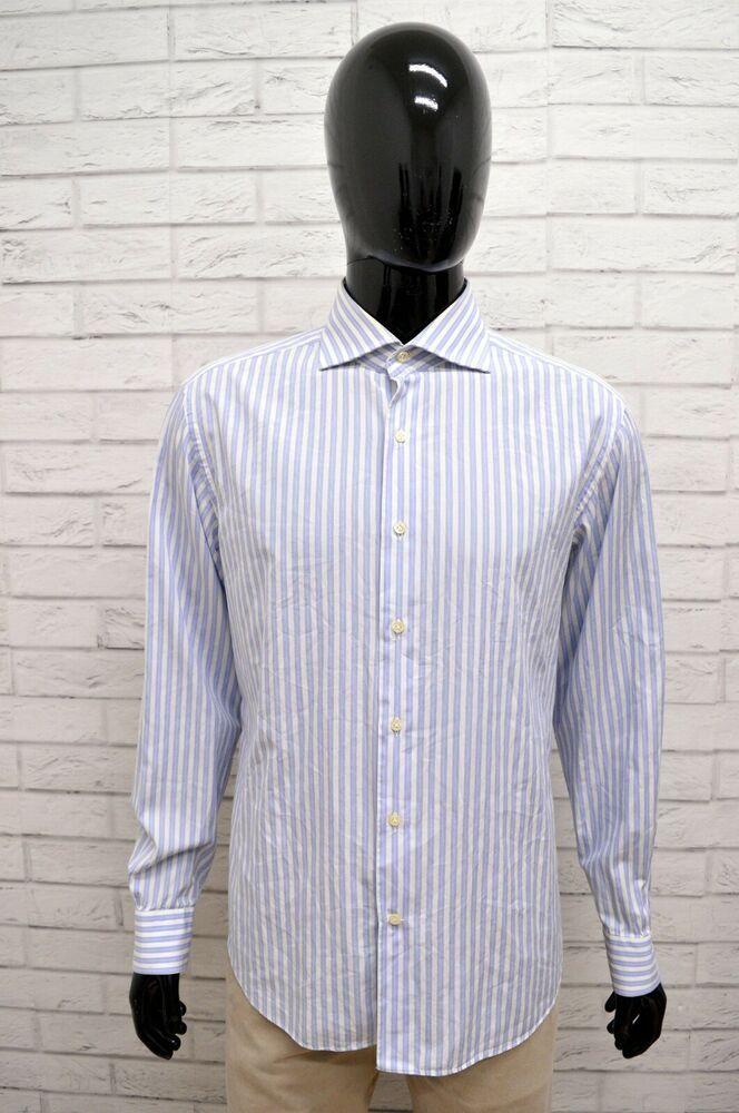 new style dc3ee 6ddc5 Camicia FAY Uomo Taglia Size L Maglia Chemise Shirt Man ...