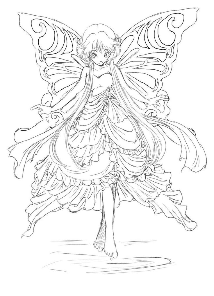 Coloring Pages Detailed Fairies