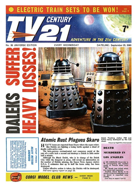 TV21 Cover 1965-09-25 Daleks Doctor Who by combomphotos, via Flickr