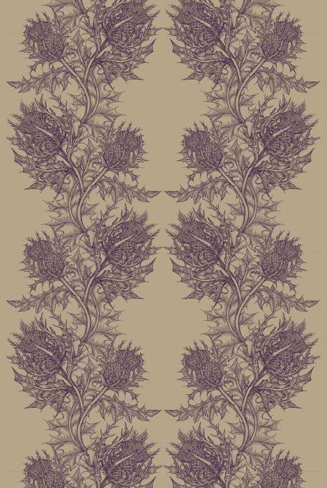 Timorous Beasties Fabric - Thistle. We admire Timorous Beasties' brand of Scottish style.