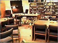 Damages done during the Columbine High School shootings