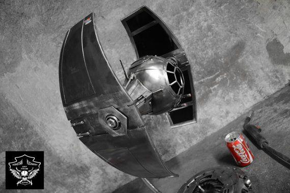 Metal art Star Wars TIE Advanced v1 _ free shipping by SKafS