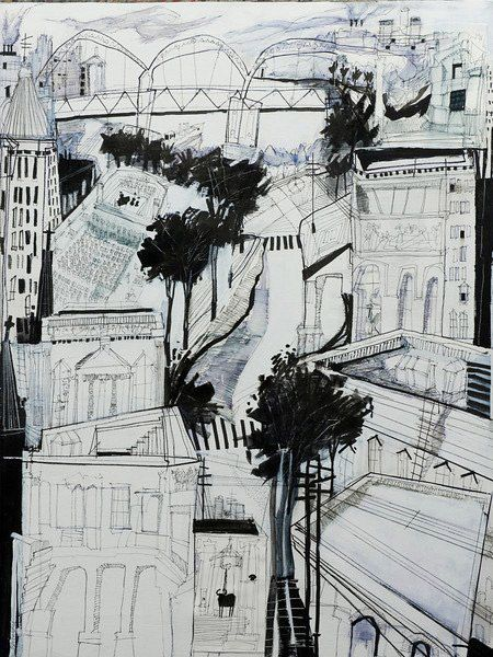 Dennis Campay, Will Call, 2012, 30 x 40 inches, pen and ink