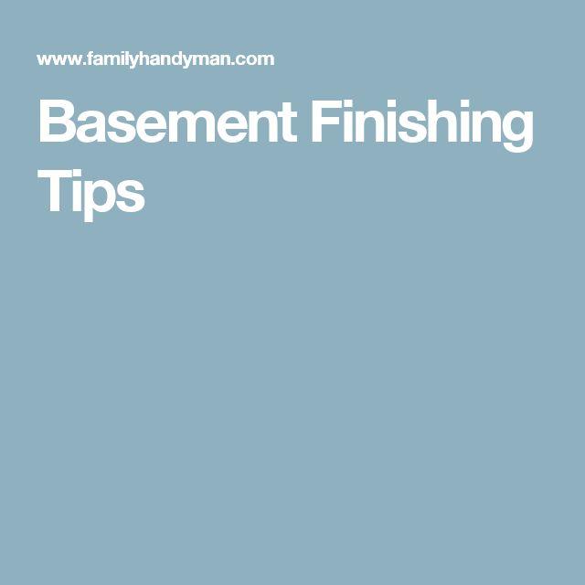 Basement Finishing Tips
