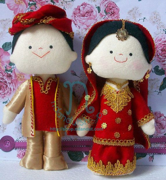 India Wedding Dolls by ndandut on Etsy, $55.00