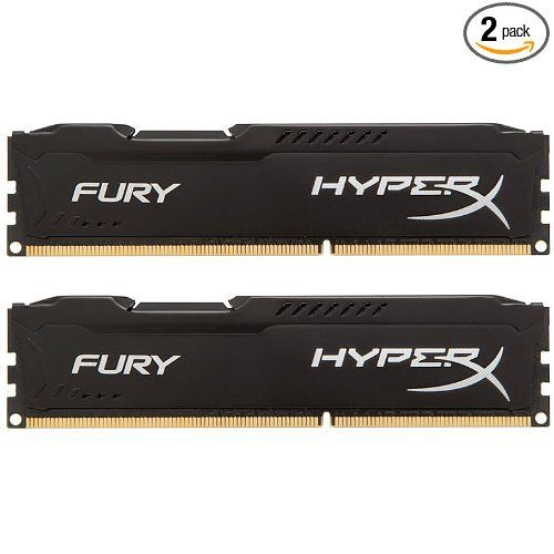 Kingston HyperX FURY 16GB Kit (2x8GB) 1866MHz DDR3 CL10 DIMM - Black (HX318C10FBK2/16) at Amazon.com