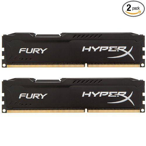 Kingston HyperX FURY 16GB Kit (2x8GB) 1866MHz DDR3 CL10 DIMM - Black (HX318C10FBK2/16) at Amazon.com