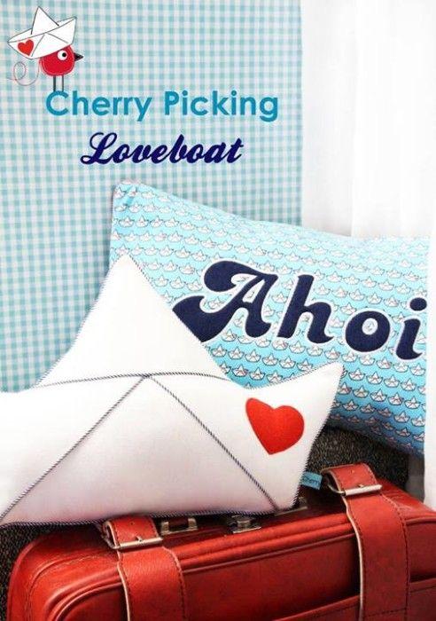 Cherrypicking Loveboat Kissen kostenloses Schnittmuster