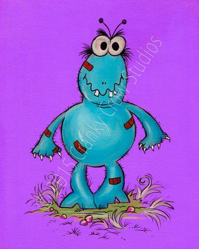 """Stevie Monster 8"""" x 10"""" Print"""