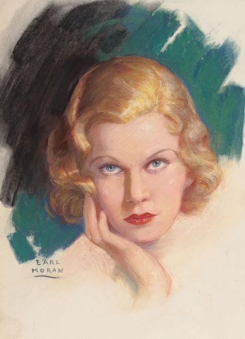 Portrait of Jean Harlow by Earl Moran