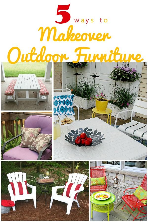 DIY Ideas | If you've been thinking that patio or lawn furniture is way out of your budget, think again! There's outdoor furniture aplenty to be found on Craigslist and roadsides across America. A little imagination and some spray paint can go a long way to making your dreams of comfy seating outside come true. Check out these 5 Ways to Makeover Outdoor Furniture!