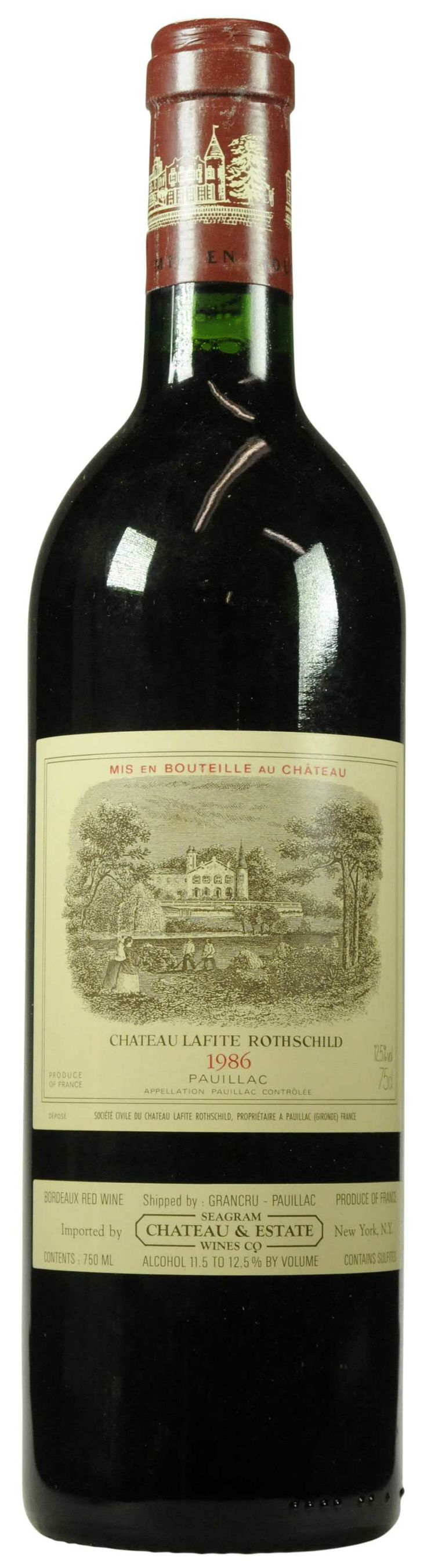 Château Lafite-Rothschild 1986  l Christie's Signature Cellars - Online Wine Auction New York Going on NOW- 18 February - 27 February...CLICK TO BID!