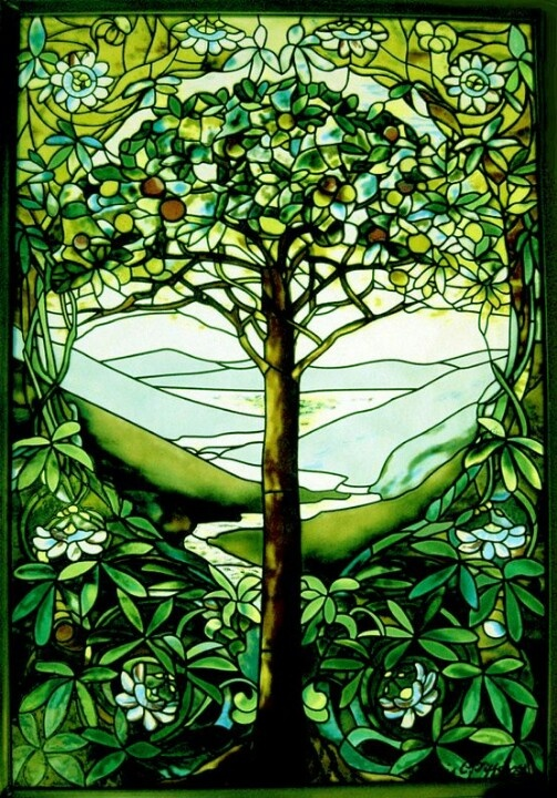 Stain glass tree-I want something like this for my big front window