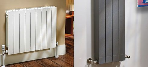 aluminium radiators from Hunt Heating slim profiles for traditional and modern #design