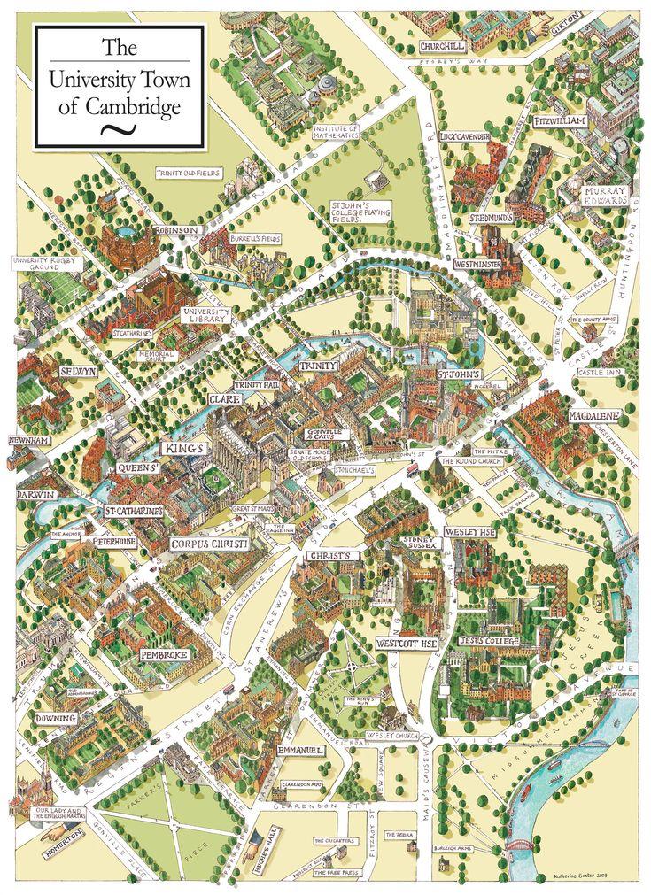 Cambridge England Map - Cambridge UK • mappery