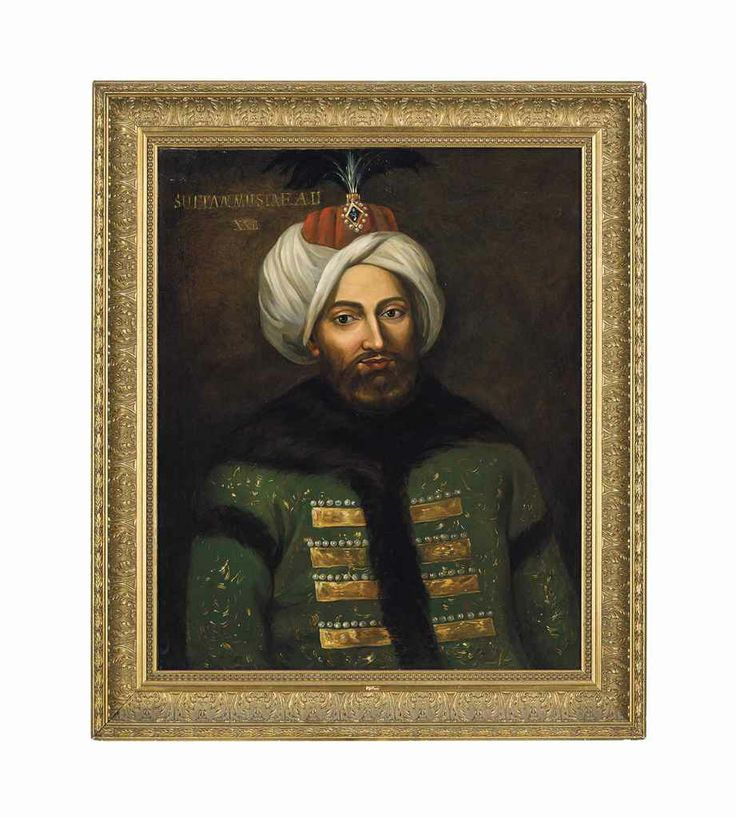 A Large Portrait Of Sultan Mustafa II Ottoman Turkey, Circa 1900
