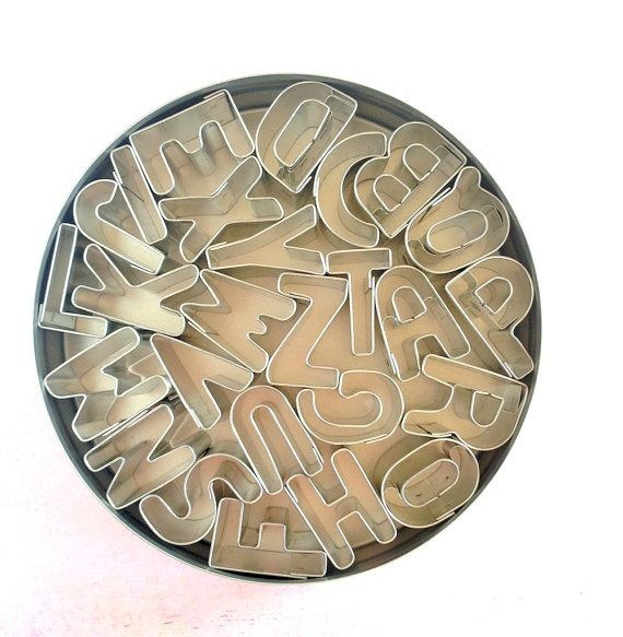 Hey, I found this really awesome Etsy listing at https://www.etsy.com/listing/206996296/mini-alphabet-cookie-cutter-set