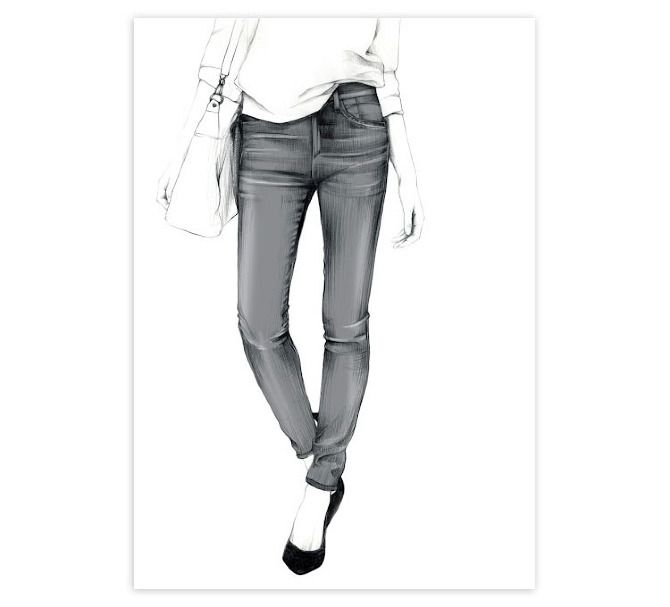 17 Best images about Fashion illustration on Pinterest | Drawings Fashion poses and Denim outfit