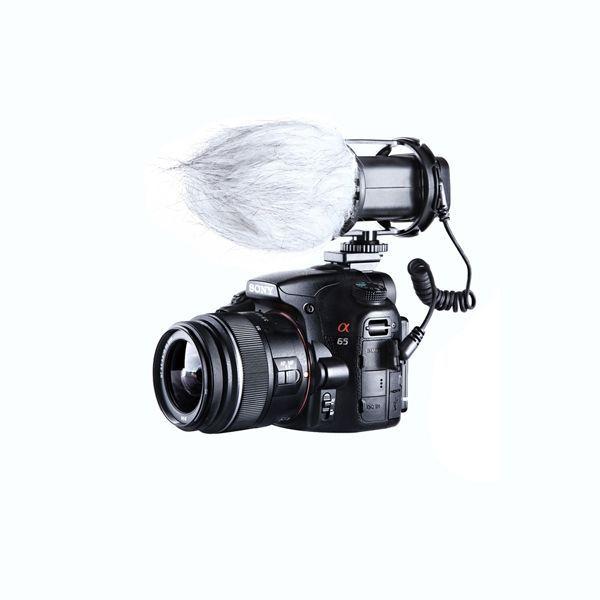 BOYA by-v02 micrófono estéreo externo de vídeo compacta para Canon Nikon la cámara réflex digital