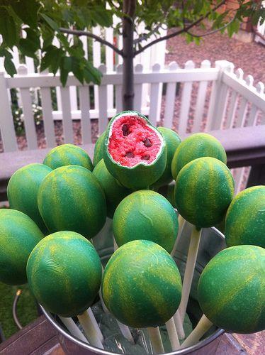 Watermelon Cake Pops from Lollicake