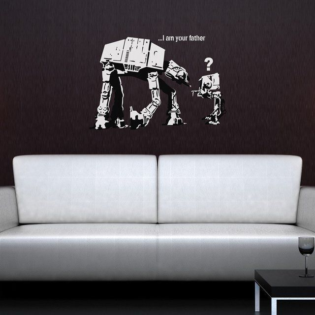 I Am Your Father Banksy Wall Sticker #Removable, #Sticker, #Wall