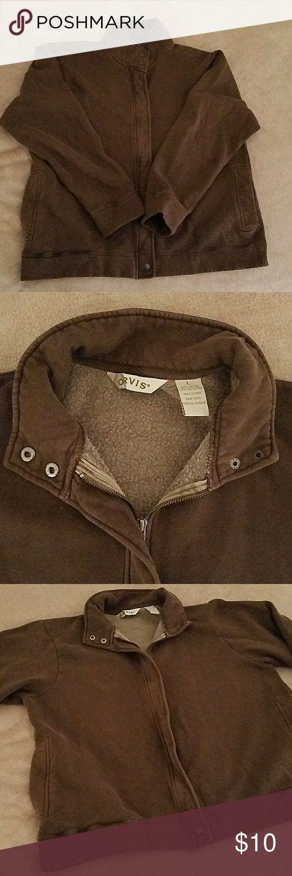 Brown zip up jacket Men's brown zip up jacket Orvis Jackets & Coats Lightweight & Shirt Jackets